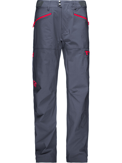 Norrøna Falketind Flex1 Pants Men Cool Black/Crimson Kick